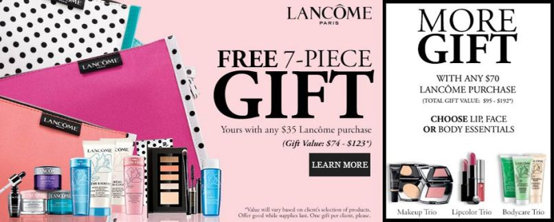Dillard S Lancome Gift With Purchase July 2017 Ziesite Co
