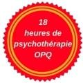 reconnue pour 18 heures de formation continue en psychothérapie par l'Ordre des psychologues du Québec
