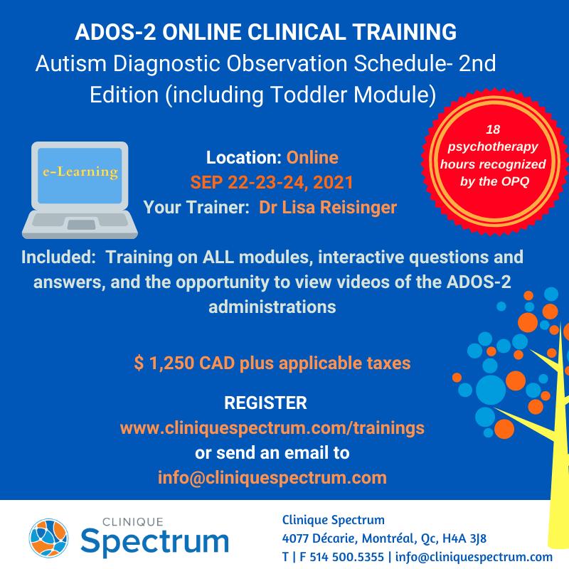 ADOS-2 Online Training Sep 2021