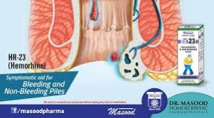 Masood HR-23 for piles (bleeding and non bleeding)