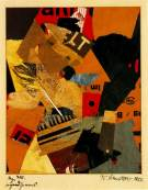 """Something or Other. 1922. Collage. 7"""" x 5""""."""