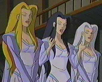Weird Sisters, as featured in the cartoon Gargoyles - ask me about my supernatural VCR sometime