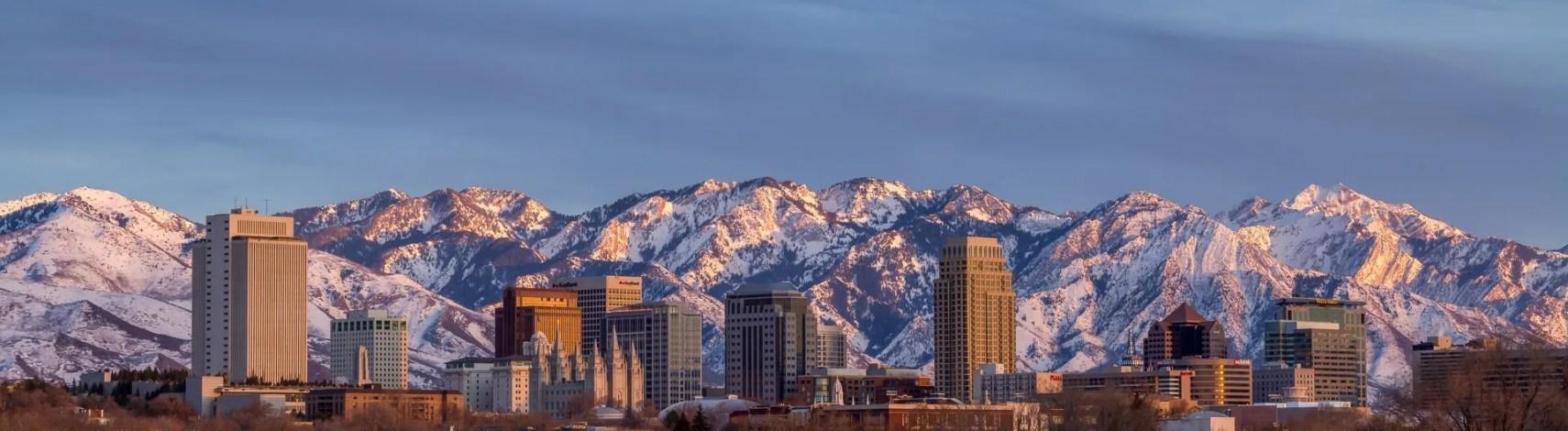 Salt Lake City Skyline Panorama - Utah Urban Panoramic Photography