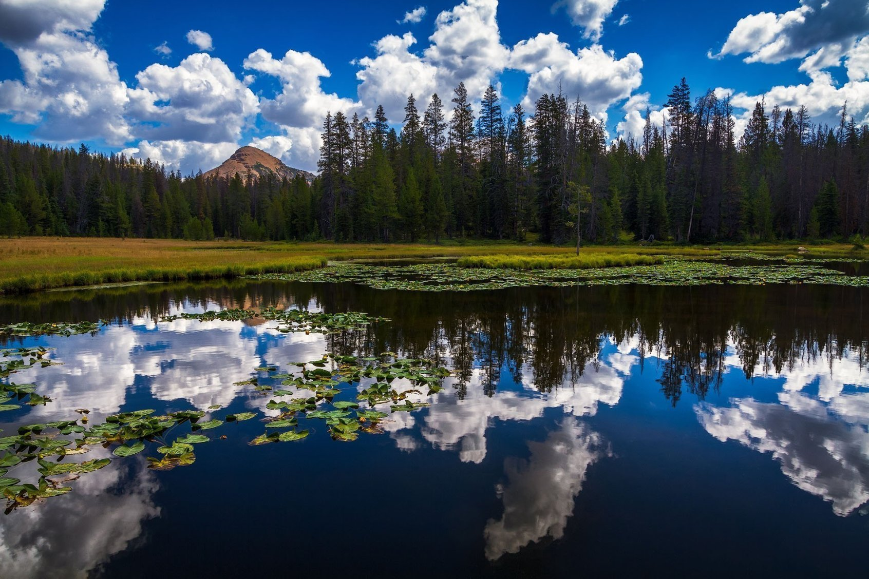 Lake Marion Cloudy Reflection - Utah Landscape Photography