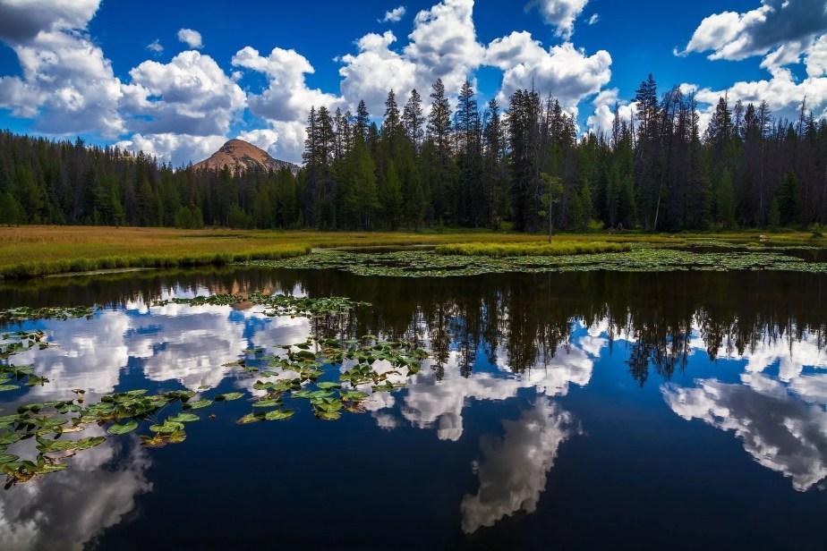 Lake Marion Cloudy Reflection - Utah Landscape Photography