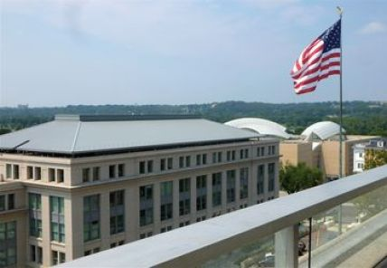 A view from the 8th floor balcony at the State Department. (Credit: Thomas V. Dembski)
