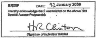 Hillary's signature on the non-disclosure agreement (NDA). (Credit: public domain)