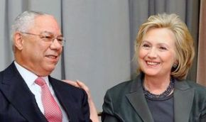 Colin Powell and Hillary Clinton (Credit: Jonathan Ernst / Getty Images)