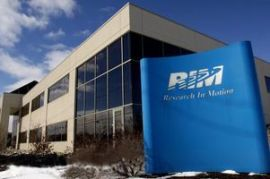 Headquarters of Research In Motion (RIM) located in Waterloo, Ontario (Credit: public domain)