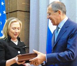 Clinton meets with Russian Foreign Minister Sergey Lavrov in St. Petersburg, Russia, on June 29, 2012. (State Department)