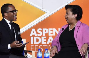 Jonathan Capehart interviews U.S. Attorney General Loretta Lynch at the Aspen Ideas Festival on July 1, 2016. (Credit: MSNBC)