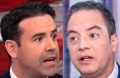 Brian Fallon (left) Reince Preibus (right) (Credits: (CNN and NBC News)