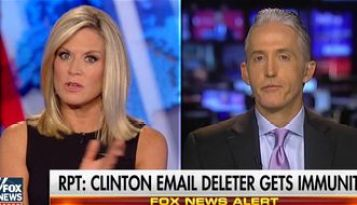 Trey Gowdy appears on Fox News on September 10, 2016 to discuss the immunity deal. (Credit: Fox News)