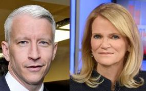 Anderson Cooper (left) and Martha Raddatz are the presidential debate moderators at Washington University in St. Louis on October 9, 2016. (Credit: Washington University)