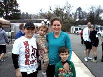 Karla Jones with Cadence, Megan, and Colton Warren