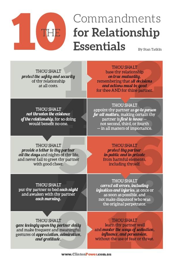 The 10 Commandments for Relationship Essentials