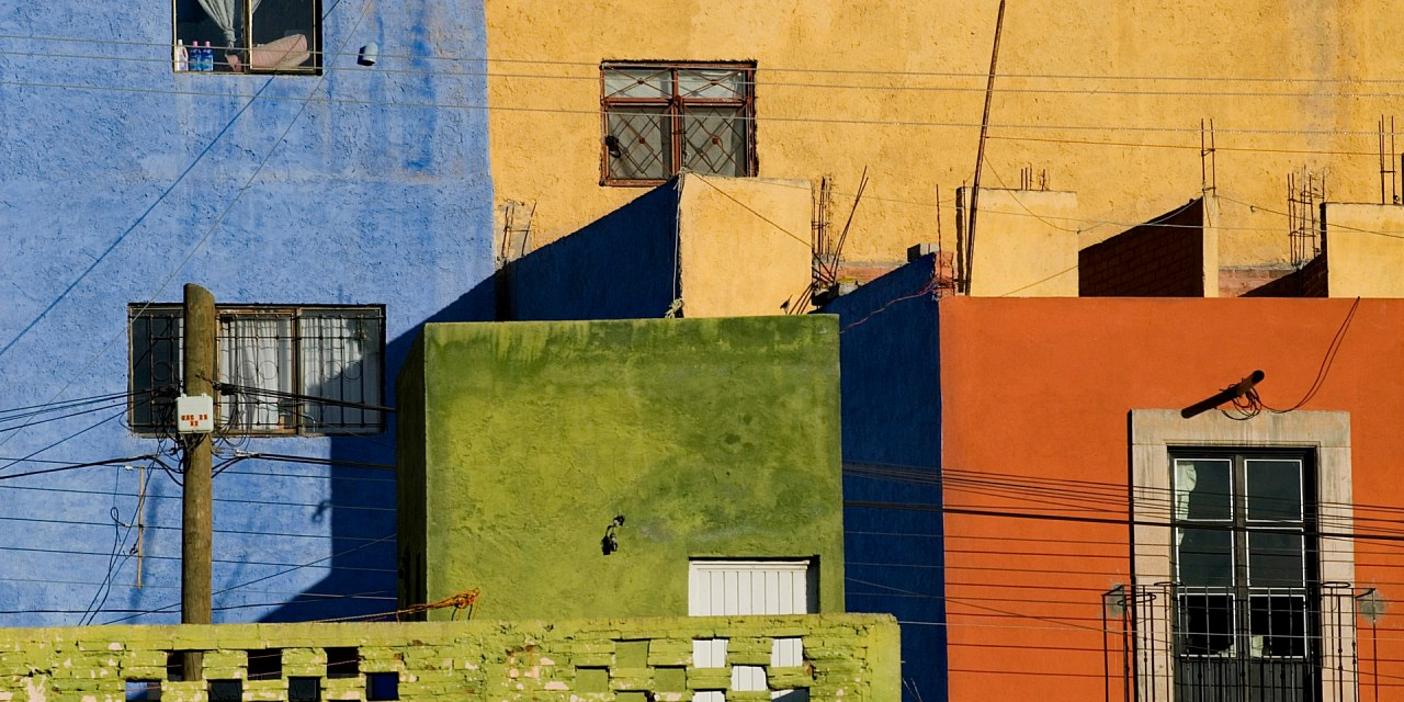 Colorful Homes in Zacatecas, Mexico