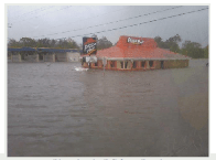 Pizza hut on Bridge City flooded by ike storm surge