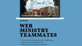 Seeking ~ Web Ministry Teammates