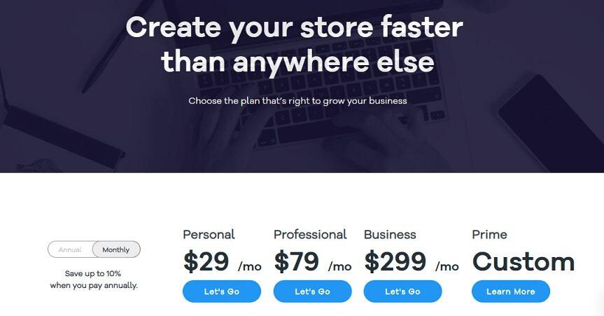 Volusion pricing plans