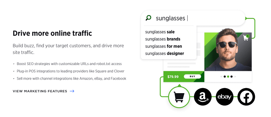 built in seo feature for your online store