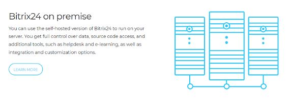 your can setup Bitrix24 on business premise