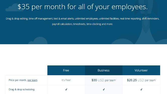 scheduling software subscription plans start with free