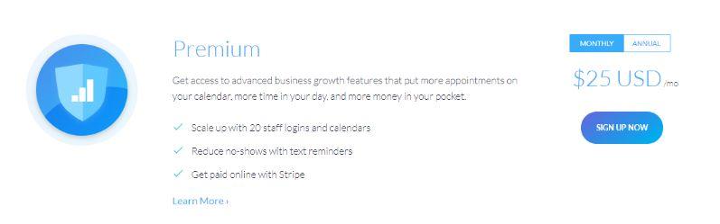 scheduling service premium plan