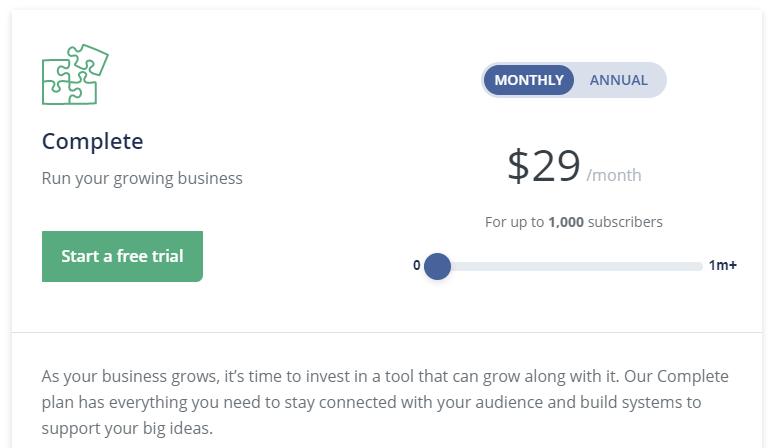 Convert Kit pricing plans