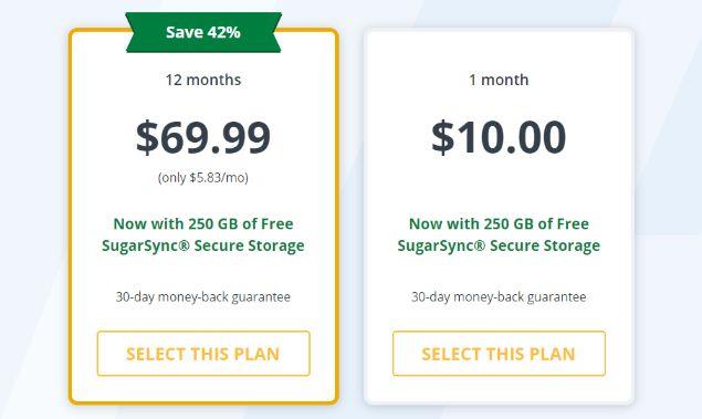 StrongVPN subscription plans