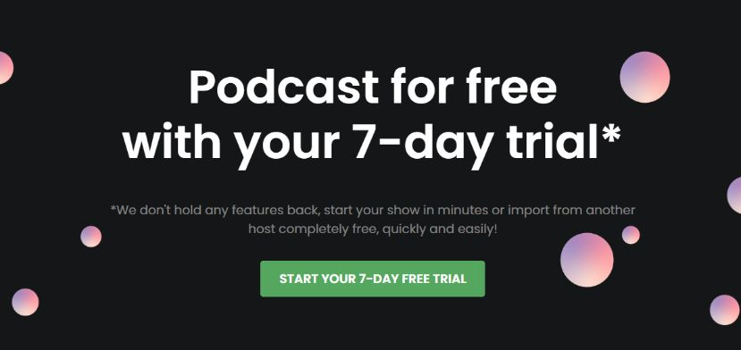 Shockingly Awesome Podcast Hosting – 7 days Free Run