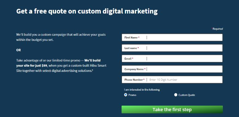 Get a free quote on custom digital marketing