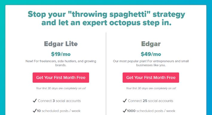Meet Edgar pricing model