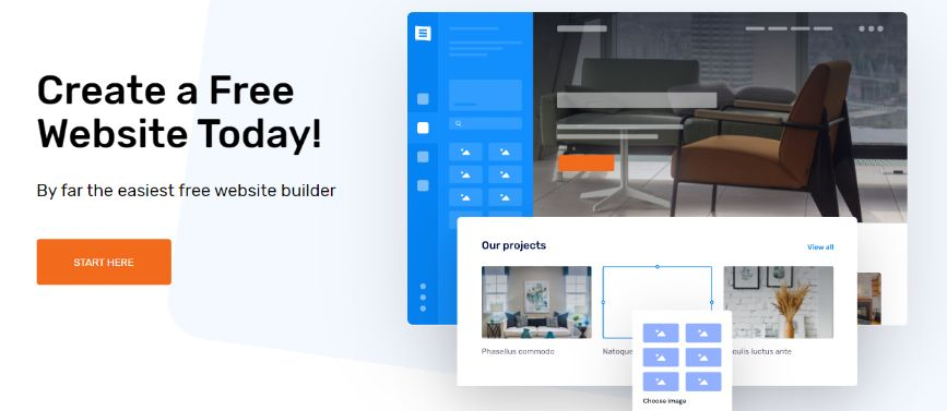 Simple & Easy Website Builder – Free Plan included
