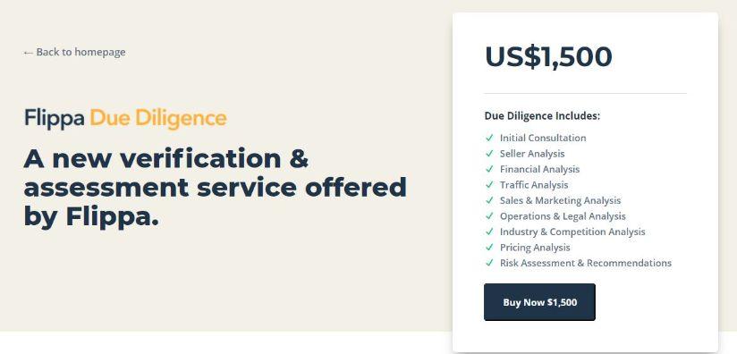 flippa due diligence - a new online business verification service