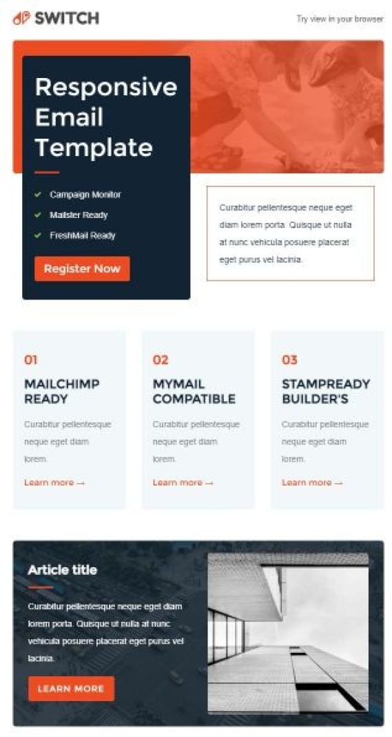 visually attractive email template will increase your conversion rate by at least 200%
