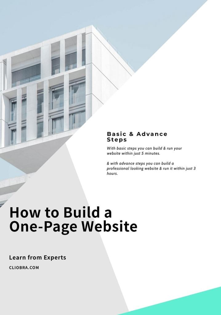 how to build a one-page website