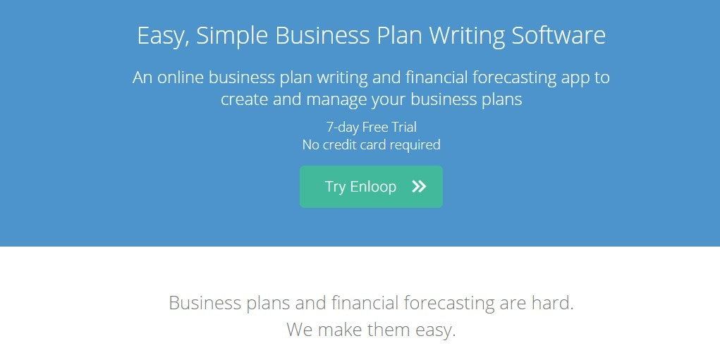 Enloop is a powerful business planning & writing software
