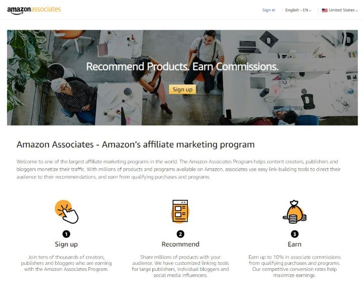 Amazon Associate is one of the largest eCommerce brand in USA, hold more than 50% customer base.