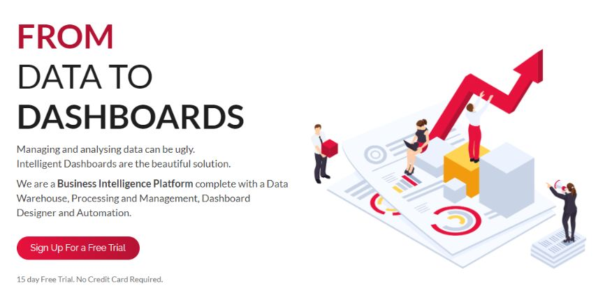 ClicData is one of the best BI tool, you can try them for 15-days without any debit/credit card.
