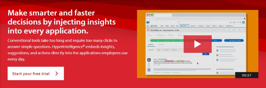 MicroStrategy BI tool is best for large organization. You can start with their no risk 30-days free trial.