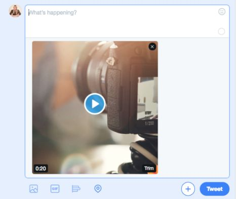 Share your video content to Twitter.