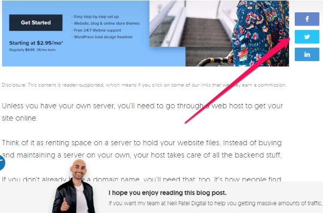 link your social media account to your blog and website.