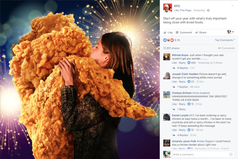 How to improve social media marketing? This is a perfect example of smart social media marketing from KFC.