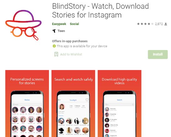 Use Blind Story app to view Instagram user story without letting them know.