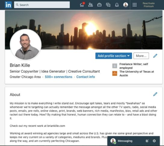 Build relationship with other business owner, employees or suppliers in LinkedIn.