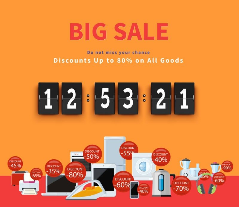 Discount countdown is a perfect way to encourage your audience to take action immediately.
