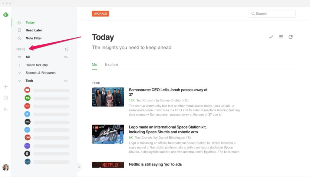 Use Feedly to get automatic content update from your favorite website or competitors.