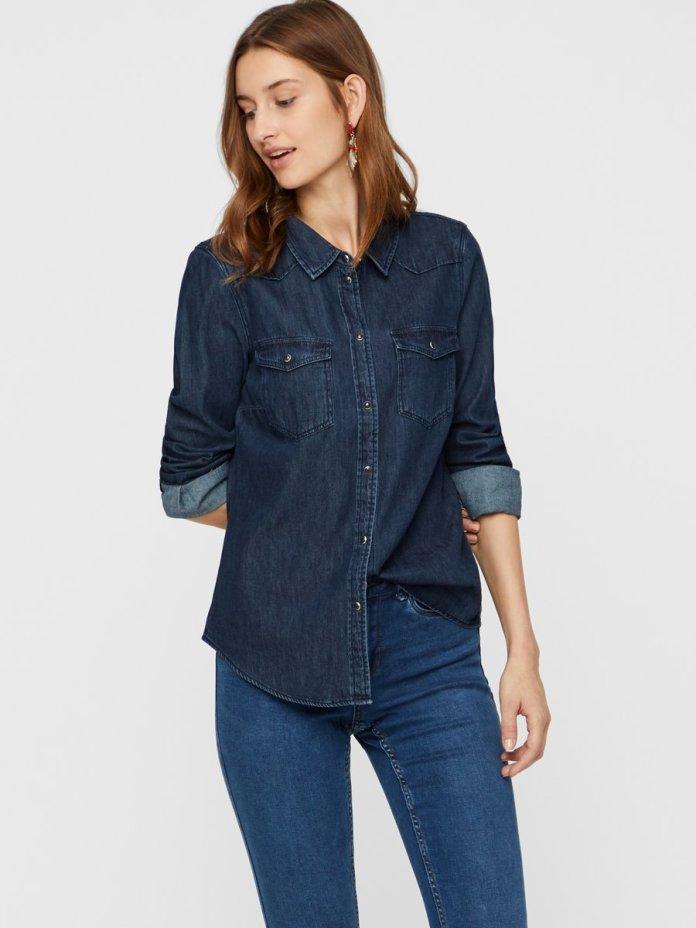 Cliomakeup-look-back-to-school-11-camicia-jeans-vero-moda