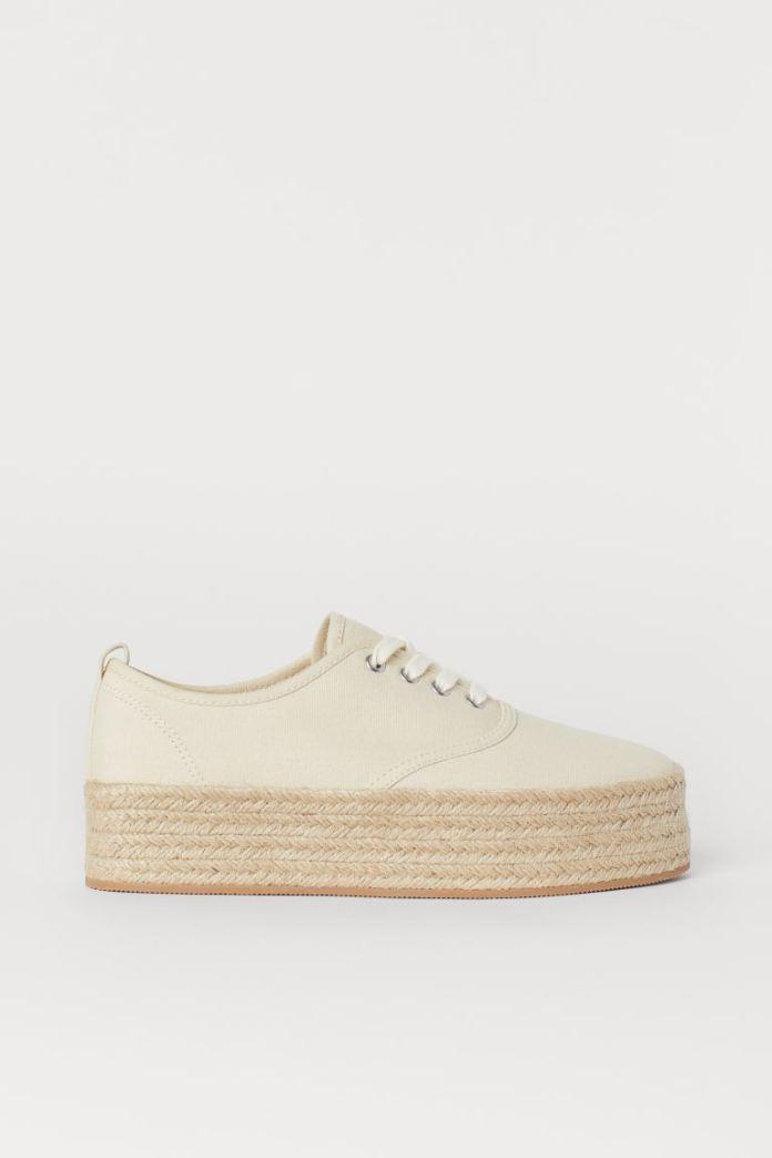 Cliomakeup-scarpe-casual-saldi-invernali-2021-4-hm-sneakers-plateau-tela
